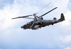 Combat Helicopter In Flight Royalty Free Stock Photography