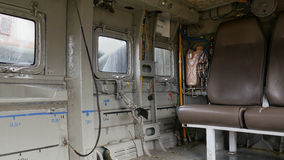Combat helicopter interior Royalty Free Stock Image