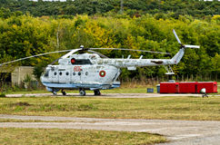 Combat helicopter Mi-14 PL Stock Photo