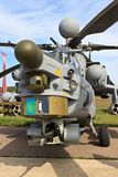 Combat helicopter Mi-28 with open arms Stock Photography