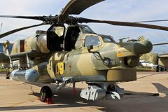 Combat helicopter Mi-28N Stock Image