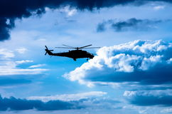 Combat helicopter Mi-24 Royalty Free Stock Photo