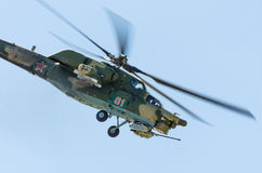 Combat helicopters Berkuty. Russia, Saint-Petersburg, June 2017. Royalty Free Stock Photo