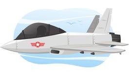 Combat jet airplane cartoon illustration Stock Photo