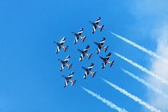 Combat jets in the air Stock Photography