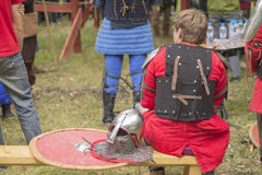 Combat médiéval de partie Image stock