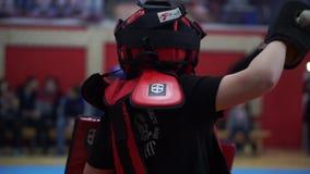 Combat moderne d'épée banque de vidéos