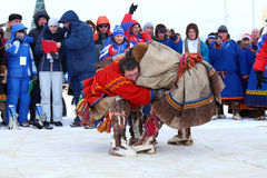 Combat national de Nenets Photos stock