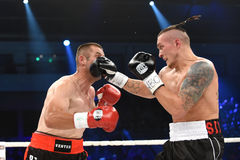 Combat pour la ceinture de champion intercontinentale de poids mi-lourd de WBO Photo stock