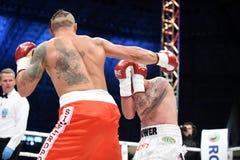 Combat pour la ceinture de champions photographie stock
