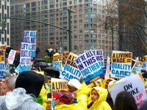 Combat pour le jour $15 national de l'Action-nouvelle ville de York Images libres de droits