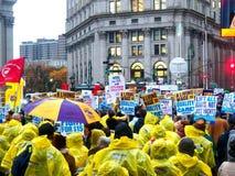 Combat pour le jour $15 national de l'Action-nouvelle ville de York Images stock