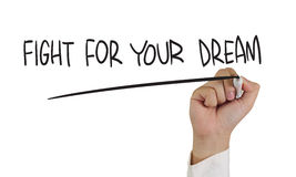 Combat pour votre rêve photos libres de droits