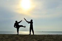 Combat près de la plage Images stock