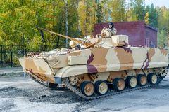 Combat reconnaissance vehicle BRM-3K in motion Royalty Free Stock Photos