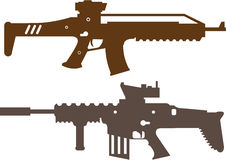 Combat rifles. Illustration clip-art vector stock illustration