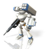 Combat robot on science fiction Stock Photography