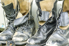 Combat Shoes Stock Photo