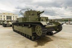 Combat Soviet tank, an exhibit of military-historical Museum, Ekaterinburg, Russia Stock Photos