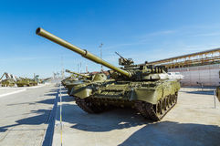 Combat Soviet tank, an exhibit of military-historical Museum, Ekaterinburg, Russia Royalty Free Stock Image