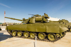 Combat Soviet tank, an exhibit of military-historical Museum, Ekaterinburg, Russia Stock Photo