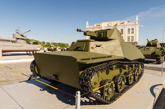 Combat Soviet tank, an exhibit of military-historical Museum, Ekaterinburg, Russia, 05.07.2015 Stock Images