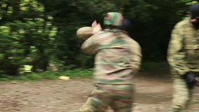 Combat Special Forces training stock video