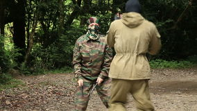 Combat Special Forces training stock video footage