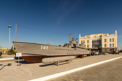Combat torpedo boat, the exhibit of the military historical Museum, Russia, Ekaterinburg, Royalty Free Stock Images