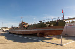 Combat torpedo boat, the exhibit of the military historical Museum, Russia, Ekaterinburg, Royalty Free Stock Photography
