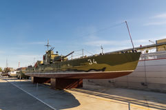 Combat torpedo boat, the exhibit of the military historical Museum, Russia, Ekaterinburg, Royalty Free Stock Image