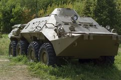 Combat vehicle BTR-80. To transport infantry to the battlefield. It was made in Gorky. stock photography