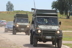 Combat vehicles Stock Photo