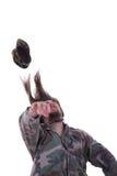Combatant was hit Stock Photo
