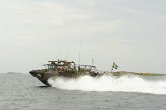 Combatboat 90 bij hoge snelheid Royalty-vrije Stock Afbeeldingen
