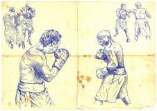 Combate de boxeo Fotografía de archivo libre de regalías