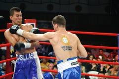 Combate de boxeo para el título intercontinental de WBC Fotos de archivo