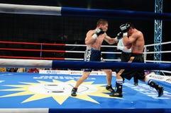 Combate de boxeo para el título mediterráneo de WBS Fotografía de archivo libre de regalías