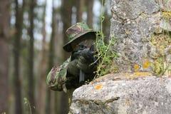 Combate del entrenamiento militar Fotos de archivo