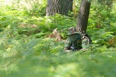 Combate del entrenamiento militar Fotografía de archivo libre de regalías