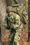 Combate del entrenamiento militar foto de archivo libre de regalías