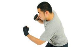 Combate do corpo do espetar do homem Fotografia de Stock
