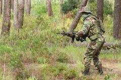 Combate do treino militar foto de stock