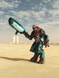 Combate extranjero Droid en el desierto Imagen de archivo libre de regalías