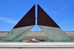 Combatentes gör den Ultramar monumentet, Lissabon, Portugal arkivbilder