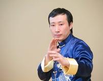 Combatiente asiático del kung-fu Foto de archivo libre de regalías