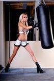 Combatiente atractivo de MMA Foto de archivo libre de regalías