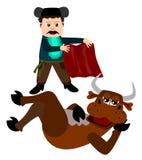 Combatiente de Bull stock de ilustración