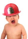 Combatiente de fuego del bebé Fotos de archivo libres de regalías