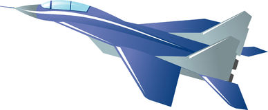 Combatiente de jet ilustración del vector